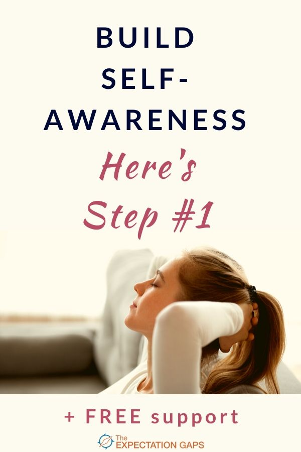 Challenge yourself to discover the #1 step you need to take to build self-awareness and understand yourself better. It might seem overwhelming at first, but I'm here to help with FREE support. Take a step toward living the fulfilling life you were meant to live today! #selfawareness #knowyourself #whoami #intentionalliving #dailymotivation #theexpectationgaps