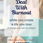 How to deal with burnout, specifically purpose burnout. The burnout that occurs while you're in the process of creating a life you love. If you're feeling this right now, deliberately invest 1 minute of your day to discover 3 things you can do today to bring your life back into balance. Life lessons to live by that I needed to remind myself of. #stressmanagement #lifelessons #dailymotivation #theexpectationgaps #1minutemotivation