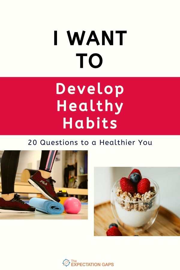 Do you want to develop healthy habits but feel a little overwhelmed? Not sure where to start? This downloadable journal prompts you to learn about diet, exercise, and sleep by posing 20 thought-provoking, open-ended questions. Not only will you learn about healthy habits, you will develop your Deliberate Thinking skills in the process. #downloadable #journalprompts #fitnesstips  #exercisetips #diettips #deliberatethinking #theexpectationgaps
