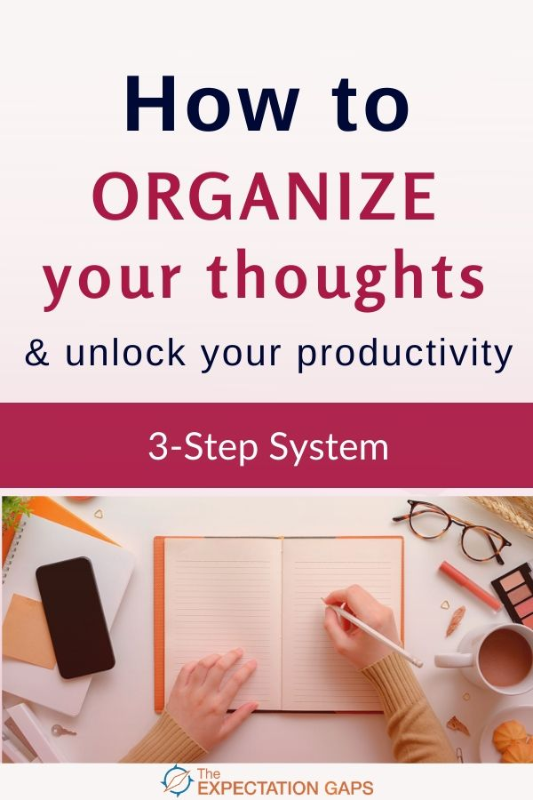 Do your brilliant ideas seem to leave your head as quickly as they came? They never get captured on paper. So of course they never see the light of day. All because you don't know how to organize your thoughts. Great! I had the same problem until I discovered a trick that can help you capture those thoughts and unlock your productivity. #braindump #productivity #dailyhabits #lifelessons #personalgrowth #intentionalliving #theexpectationgaps