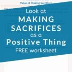 Sacrifice -- what an ominous word. But does it have to be? With a mindset of growth, can't we look at making sacrifices as a positive thing? Our full-length post will give you inspiration to shift your mindset, and our FREE WORKSHEET will help you go from inspiration to action. You can stop settling and start living today! #printableworksheets #mindset #intentionalliving #selfawareness #selfdevelopmentplan #personalgrowth #theexpectationgaps
