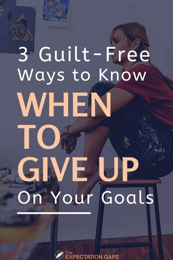 It's hard to know when it's time to give up on your goals. But, there are 3 questions you can ask yourself to gain the self-awareness you need to make that decision. Click through to this short, empowering essay to find out what they are.